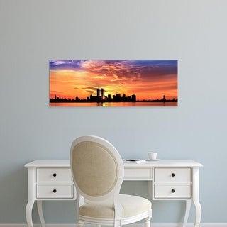 Easy Art Prints Panoramic Images's 'US, New York City, skyline, sunrise' Premium Canvas Art