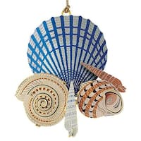 "ChemArt 2.5"" Collectible Keepsakes Seashells on the Shore Christmas Ornament - multi"