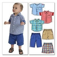 All Sizes In One Envelope - Infants' Shirts; Shorts And Pants