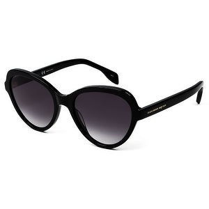 Am0029S 001 Black Frame Sunglasses With Grey Gradient Lenses