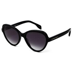 Am0029S 001 Black Frame Sunglasses With Grey Gradient Lenses