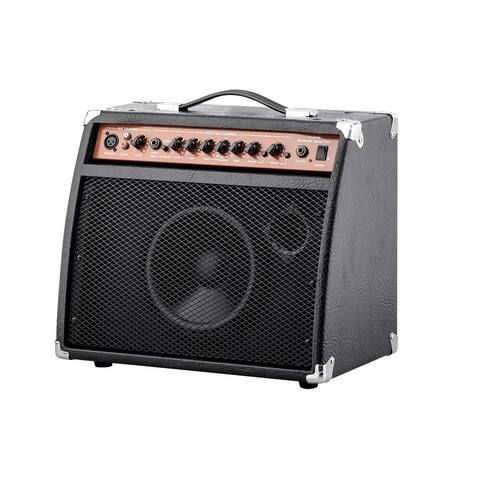 Monoprice 20-Watt Acoustic Guitar Amplifier, 3-Band EQ With Frequency Selector