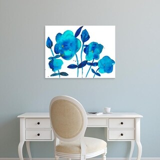 Easy Art Prints Alicia Ludwig's 'True Blue I' Premium Canvas Art