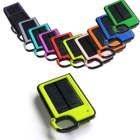 Portable Clip-On Tag Along Solar Panel Power Bank Usb External Battery Charger For Phone