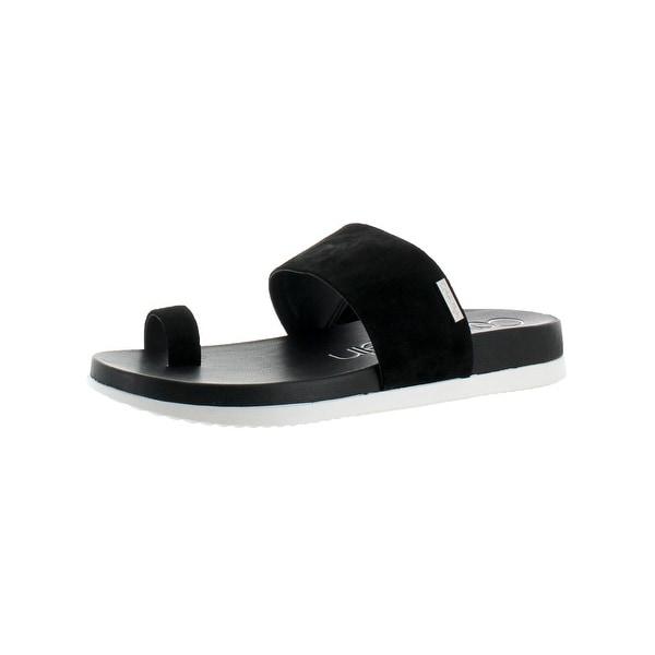 Calvin Klein Womens Danava Slide Sandals Grip Sole Cushioned - 7.5 medium (b,m)