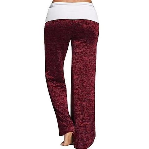 Stitching Yoga Quick-Drying Sweatpants