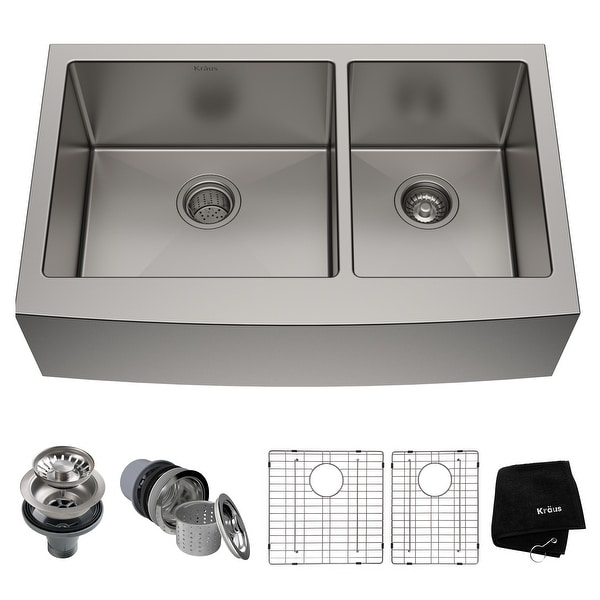 KRAUS Standart PRO Stainless Steel 33-inch 2-bowl Kitchen Sink. Opens flyout.