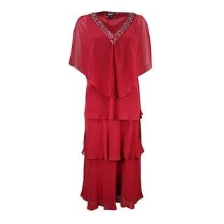 SLNY Women's Tiered Chiffon Jacket & Dress