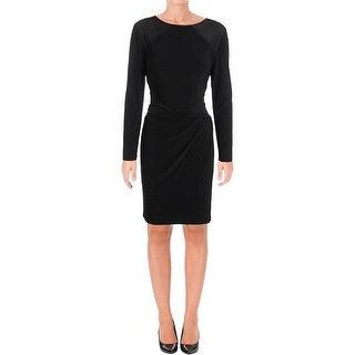 Lauren Ralph Lauren Womens Wear to Work Dress Ruched Jersey