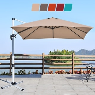 Link to Costway 10Ft Square Patio Offset Cantilever Umbrella 360 Degree Tilt Similar Items in Boats & Kayaks