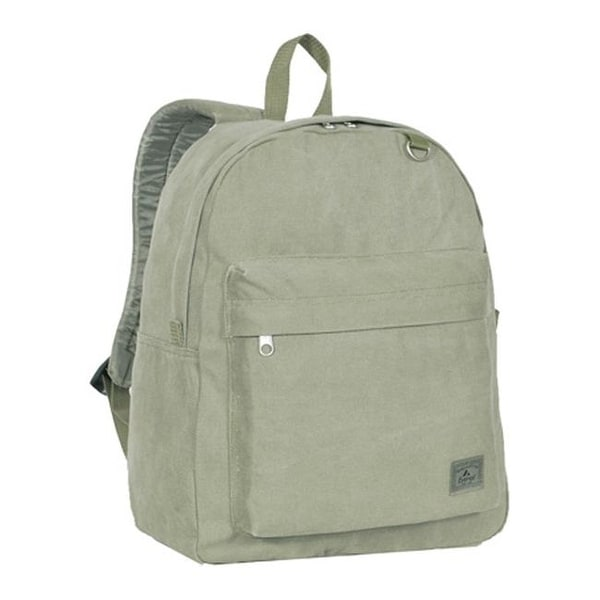 Everest Classic Laptop Canvas Backpack Olive - US One Size (Size None)