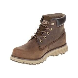 Caterpillar Mens Founder Boots in Dark Brown