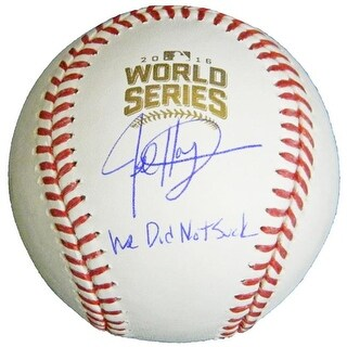 Jed Hoyer Signed Rawlings Official 2016 World Series Baseball with