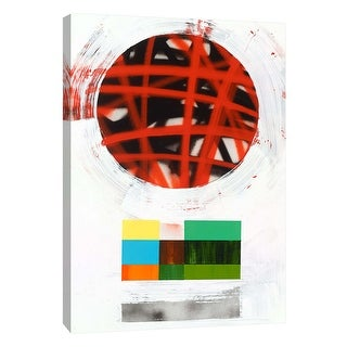 "PTM Images 9-108842  PTM Canvas Collection 10"" x 8"" - ""Lenticular D"" Giclee Abstract Art Print on Canvas"