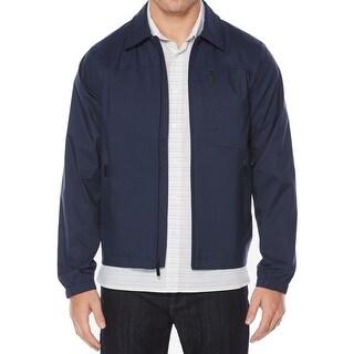Perry Ellis NEW Blue Mens Size Small S Stretch Windbreaker Jacket
