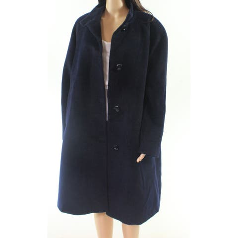 Jones York Blue Women's Size 14W Plus Button Down Jacket