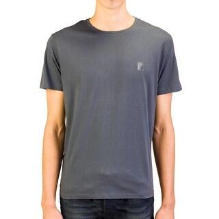 Versace Collection Men Medusa Logo Crew Neck T-Shirt Dark Grey