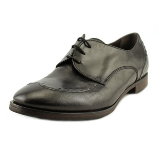 Lecle Lobo Men Wingtip Toe Leather Black Oxford