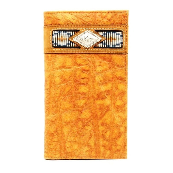 Ariat Western Wallet Mens Rodeo Gator Ribbon Natural - One size