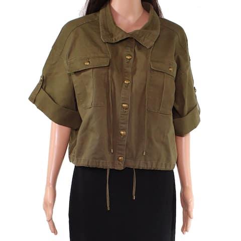 Lauren by Ralph Lauren Women's Green Size 6 Vondra Military Jacket