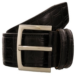 Renato Balestra Y650 NERO Black Leather Mens Belt-42in
