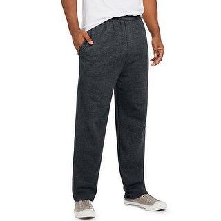 Hanes ComfortSoft EcoSmart Men's Fleece Sweatpants - Size - M - Color - Slate Heather