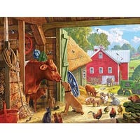 White Mountain Puzzles Barnyard Buddies Jigsaw Puzzle (550 Pieces)