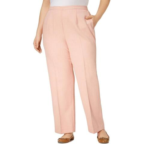 Alfred Dunner Womens Plus Dress Pants Classic Fit Straight Leg