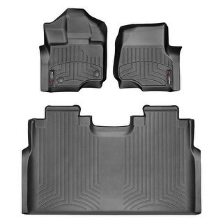 WeatherTech 44697-1-2 Black Front & Rear FloorLiner: Ford F-150 2015 + Super Crew