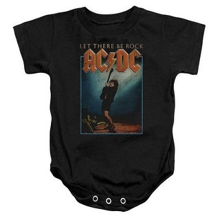 ACDC Let There Be Rock-Infant Snapsuit, Black - Large 18 Mos