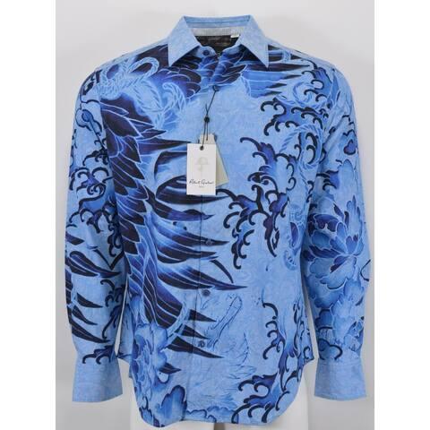 Robert Graham BONDOCK Embroidered Swan Paisley Skull Sports Shirt