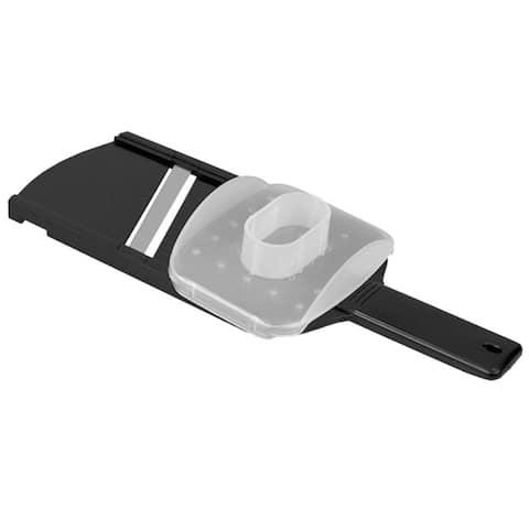 Plastic Mandolin Slicer with Handle, Black - 12x5