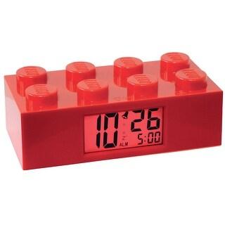 Lego Brick Alarm Clock - Red