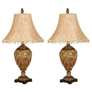 Aspire Home Accents 58098 Dessa Table Lamp (Set of 2) - Gold