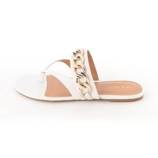 Nine West Womens STAN Leather Split Toe Casual Slingback Sandals