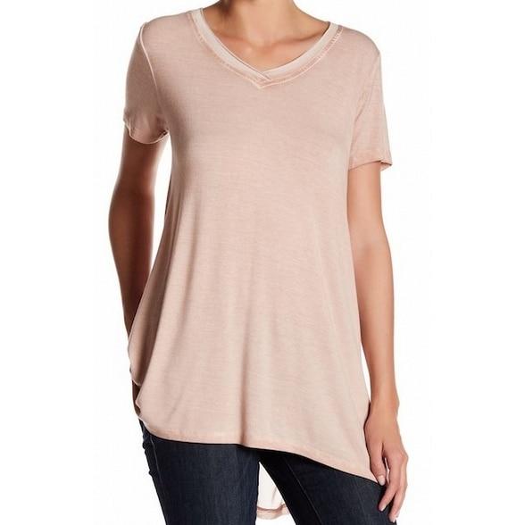 c5380bec9d371 Cable & Gauge NEW Pink Womens Size Medium M V-Neck Hi-Low Tee T-Shirt