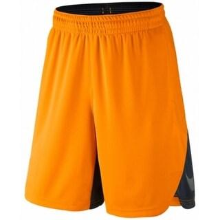 Nike NEW Orange Mens Size Medium M Athletic Elastic-Waist Shorts
