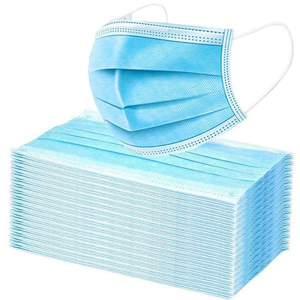 Breathable,3 Ply Non-Woven BLILI 50//100 Pcs Disposable Face Safety