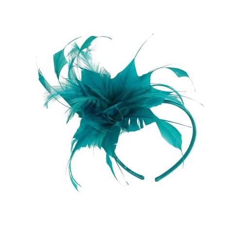 Giovannio Women's Feather Headbands - Pink/black