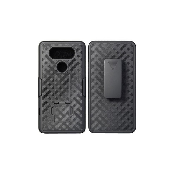 KuKu Mobile Rubberized Shell Holster for LG V20 with Kickstand (Black)