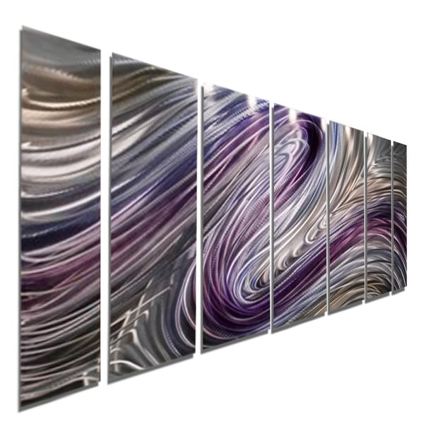 Statements2000 Silver/Gold/Purple Metal Wall Art Panels Painting by Jon Allen - Wild Imagination