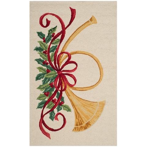 SAFAVIEH Holiday Hand-hooked Vintage Poster Mireia Wool Rug