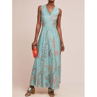 Anthropologie Reva Embroidered Maxi Dress