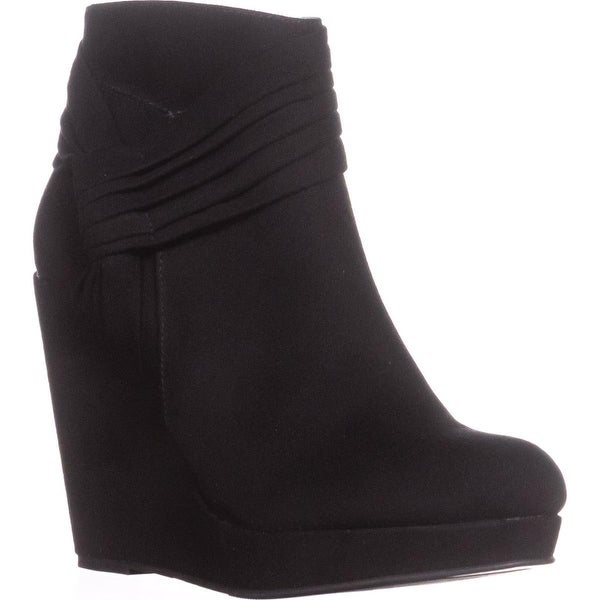TS35 Chelaa Closed Toe Ankle Fashion Boots, Black - 5 us