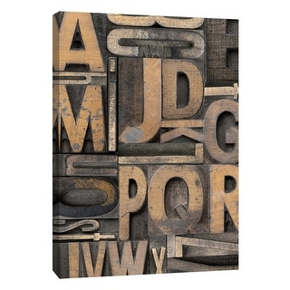 "PTM Images 9-109134  PTM Canvas Collection 10"" x 8"" - ""Letterpress Alphabet"" Giclee Alphabet Art Print on Canvas"