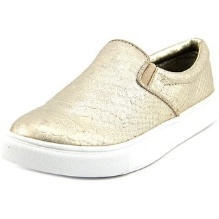Material Girl Extra Women Round Toe Synthetic Gold Sneakers