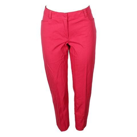 Anne Klein Brenton Red Straight-Leg Pants 8