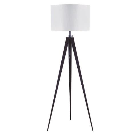 Q-Max 59''H Functional And Modern Ripod Base With Adjustable Height Floor Lamp