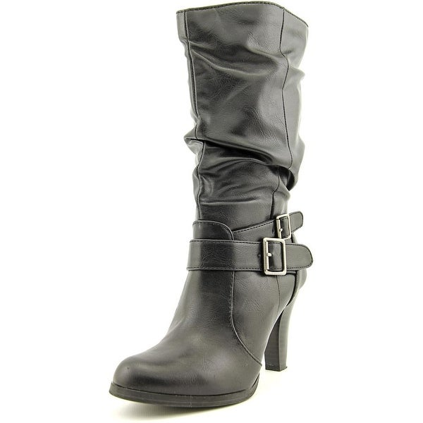 Style & Co Mickay Women Round Toe Synthetic Black Mid Calf Boot