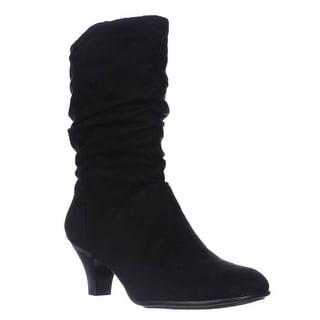 Aerosoles Wise N Shine Mid-Calf Slouch Boots - Black